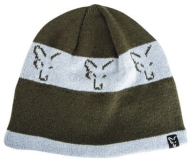 940214d1ee4 Fox Green and Silver Beanie Hat NEW Carp Fishing Winter Hat - CPR992