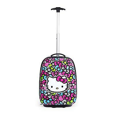 eebcfc982d33 Hello Kitty Rainbow Bows Pattern Hard ABS Pilot Carry Luggage Case Bag For  Kids