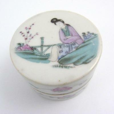 Late 19Th / Early 20Th Century Chinese Qianjiang Porcelain Cylindrical Pot