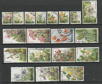 Kenya 1983 Flower defs ( No 80c ) Used, mainly fine SG 257/71 ( less262a )