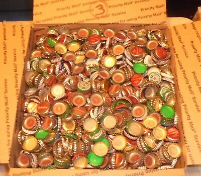 12 lbs 2500+/- used beer bottle caps for crafts box #3 free us shipping