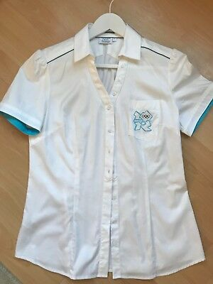London 2012 Olympics GB Team Uniform for Officials  Ladies White Shirt Size 14