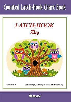 Counted Latch hook Chart - Owls In A Tree - 90x134 holes  CHART ONLY