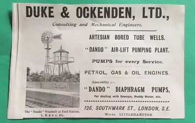 Duke & Ockenden London & Littlehampton Dando Windmill Advertisement
