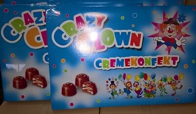10 x XL Packung Clown Pralinen ! Top Wurfmaterial Giveaway Karneval Fasching