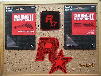 SALE Red Dead Redemption 2 SAWED-OFF SHOTGUN & TRAIN 3D Models + RDR2 STICKERS