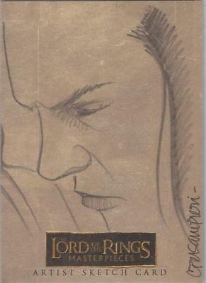 "Lord of the Rings Masterpieces -  Connie Persampieri ""Elrond"" Sketch Card"