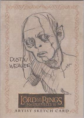 "Lord of the Rings Masterpieces II - Dustin Weaver ""Gollum"" Sketch Card"