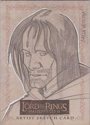 "Lord of the Rings Masterpieces II - Dalla Vecchia ""Aragorn"" Sketch Card (a)"
