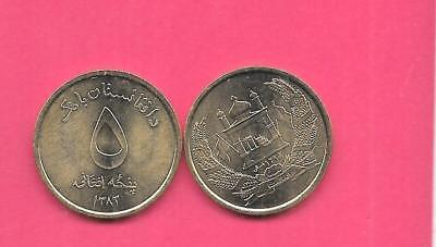 Afghanistan Km1046 2014 5 Aghanis Unc-Uncirculated Mint-Bu Large Coin