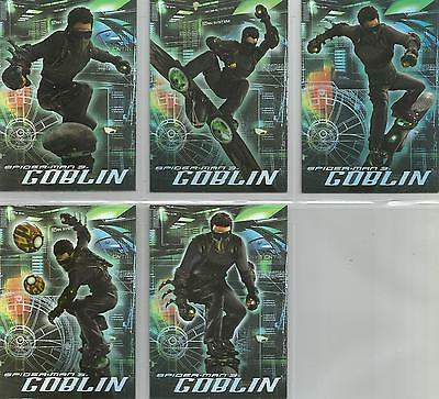 """Spider-man 3 - """"The Goblin"""" Set of 5 Chase Cards #G1-5"""
