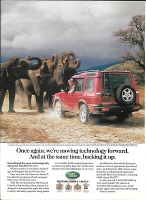 1999 Land Rover Discovery Herd Of Elephants Ad