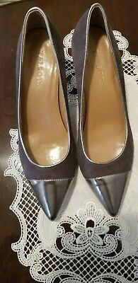 Talbots Shoes, Grey suede & Silver pointed toe pumps,  6.5