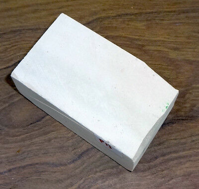 "3x2"" White Carving Stone, for Peace Pipe, Fetishs, Stone Slab for Carving P13"