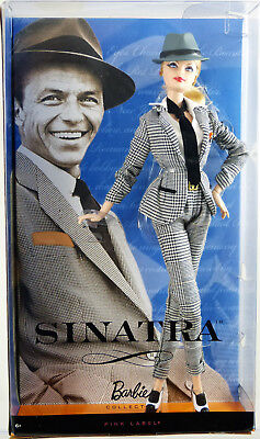 Frank Sinatra Barbie Doll Pink Label #T7908 New Never Removed from Box 2011