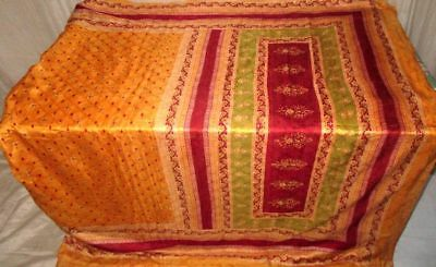 Golden Maroon Pure Silk Antique Sari Saree SALE Haute buyer protection US #9EEML