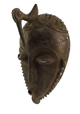 Yaure Bronze Portrait Mask Ivory Coast African Art SALE WAS $250.00