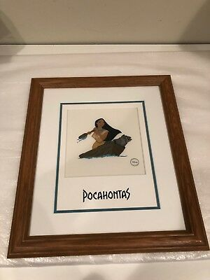Professionally Framed Rare Disney Sericel Art - Pocahontas