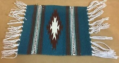 Woven Rug Placemat Or Table Pad, Mexican, Southwest Design, Stripes, Arrows