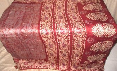 Grey Maroon Pure Silk 4 yard Vintage Sari Saree exclusive dealer US Girly #9EEO0