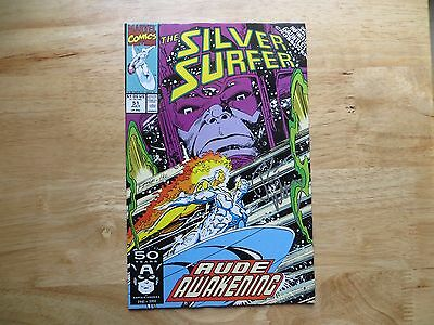 1991 Silver Surfer # 51 Infinity Gauntlet Crossover Signed Ron Marz, With Poa