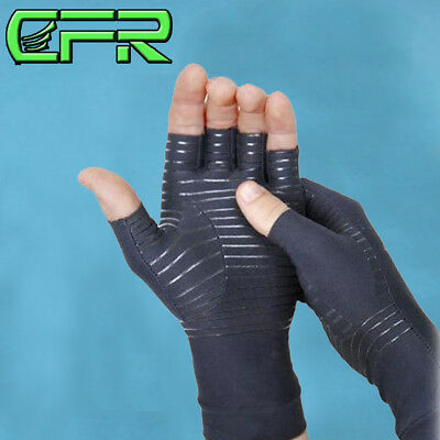 Copper Arthritis Gloves Compression Therapy Hands Support Joints Pain Relief US
