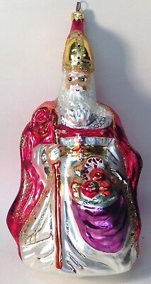 Christopher Radko 'the Bishop' Large Christmas Tree Ornament Circa 1995