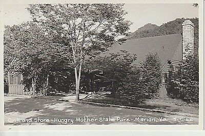 1940's RPPC Grill and Store, State Park at Marion, VA Virginia PC Cline