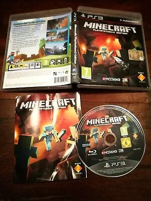 Minecraft Playstation 3 Edition Ps3 Ottima Edizione Italiana Completa No Import