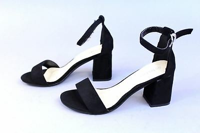4f79fca6ea1 BOOHOO WOMEN S TWO Part Rachel Low Block Heels AB4 Black Size UK 5 ...