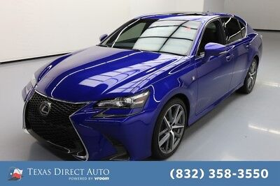 2017 Lexus GS F SPORT 4dr Sedan Texas Direct Auto 2017 F SPORT 4dr Sedan Used 3.5L V6 24V Automatic RWD Sedan