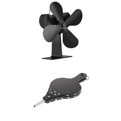 Hand Operated Fireplace Camping BBQ Grill Chimney Hand Bellows Stove Fan Set