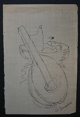 GINO SEVERINI    DRAWING SIGNED ON ORIGINAL PAPER OF. THE 40s