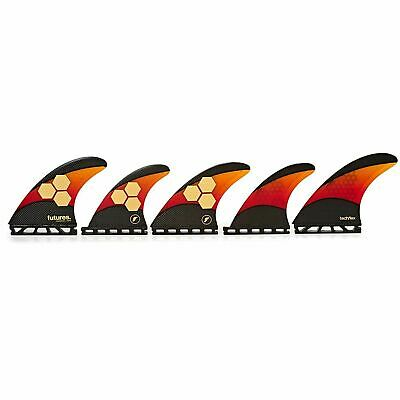 FUTURES Quad Thruster 5 Fin Set AM2 Techflex  Surfboard Finnen