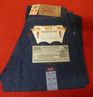Vintage 90's DEADSTOCK Levi's 501 XX Shrink to Fit Made in USA 29 W 36 L Jeans