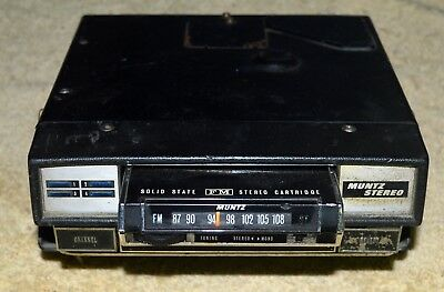 Vintage Muntz Fm Stereo 8 Track Car Radio Player Made In Japan Rare Collectible