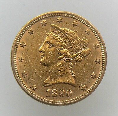 1890 $10 Dollar Liberty Gold Eagle Coin