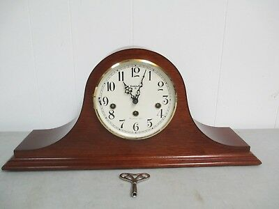 Baldwin Mahogony Mantle Clock Westminster Chimes 5 Hammers
