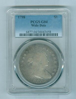 1798 PCGS G04 Wide Date Bust Silver Dollar