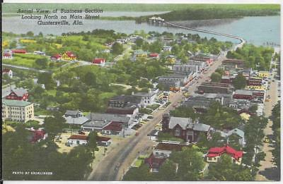Aerial View  Of Business Section - Guntersville, Alabama