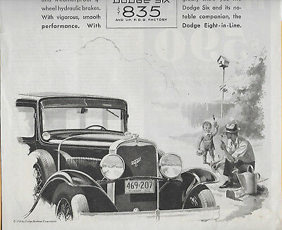 Rare 1930 Dodge Brothers Sixes & Eights Automobile Magazine Ad; Great Shape!