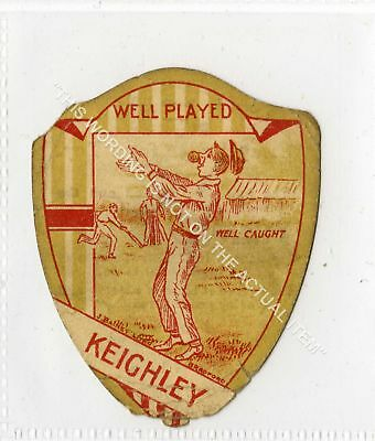 RARE J Baines Cricket shield, Keighley 1919 P-F (Gb4890-486)