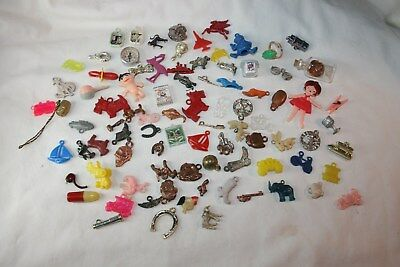 Vintage Lot 85 Cracker Jack Gumball Vending Machine Charms & Prizes NR