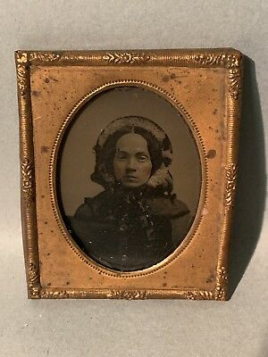 Pair Of Antique Brass Framed Daguerreotypes (Read Description For Details!!!!)
