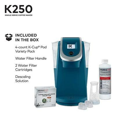 ~ Keurig HOT K250 2.0 Plus K-Cup Pod Coffee Maker Brewer Peacock Blue NEW