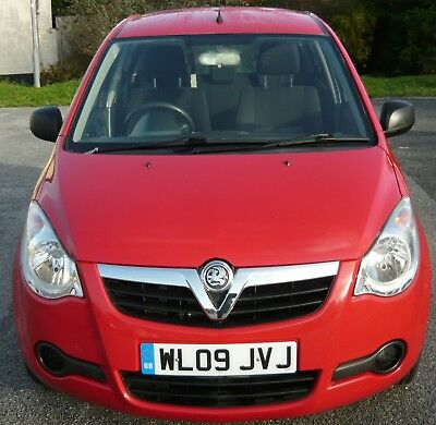 2009 '09' reg Vauxhall Agila Ecoflex 1.0L Petrol in Red only 46,800 miles,F.S.H.