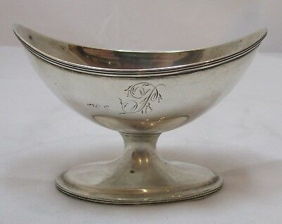 Rare Antique Georgian Sterling silver Newcastle pedestal salt, c1800, TW, 85g