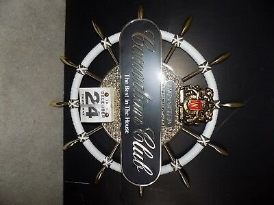 """Vintage Canadian Club Whiskey Ships Wheel 1981 Calander 18"""" Inches  See Pics"""