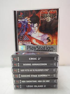 Collection Of 7 PS1 Playstation Games/Tekken 3/Croc 2/Harry Potter/Worms - N13