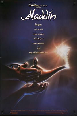 Aladdin - original DS movie poster - D/S 27x41 Disney Animation Adv John Alvin